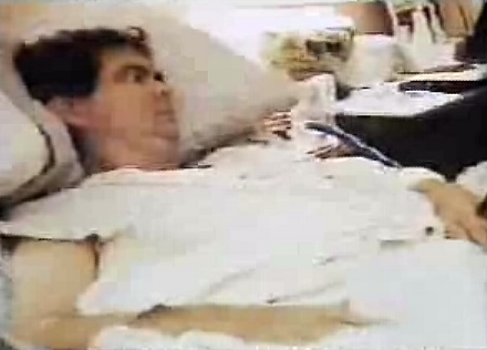 lee atwater sick with tumor in bed