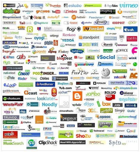 Digg, Wikipedia, and the myth of Web 2.0 democracy - Web 2.0 parody fake logos brands consumerism democracy branding brand identity
