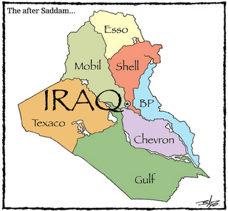 post war iraq map oil companies