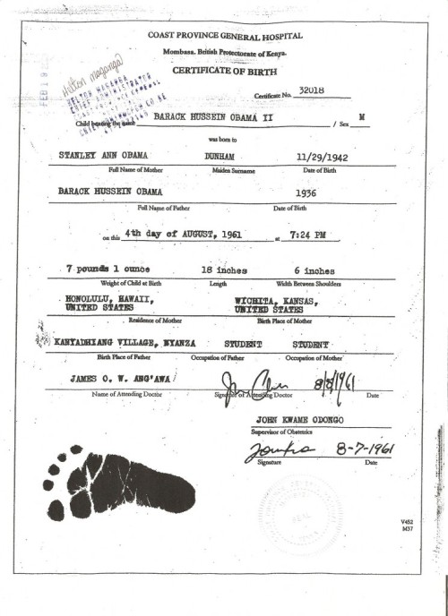 Kenyan Birth Certificate President Obama