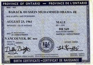 Canadian Obama Birth Certificate